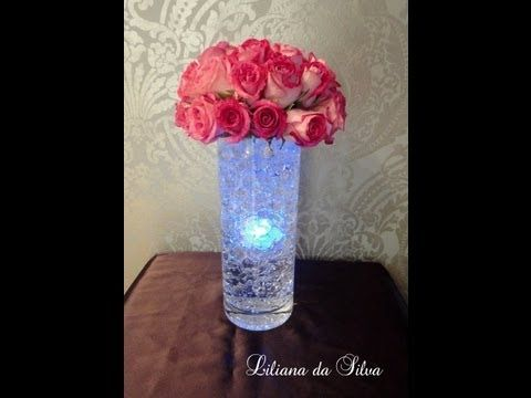 Centerpieces Can Use Different Color Lights Just Need Long Vase