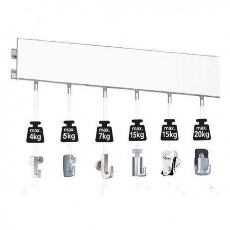 Sistema para colgar cuadros ClickRail Pro 200 cm. PLATA  0f00bd8dc3a5