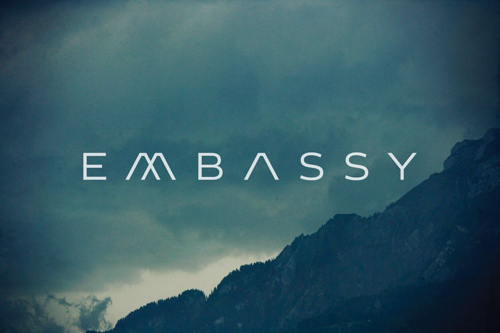 Embassy: One of my favorite logotypes by the amazing Kris Sowersby.