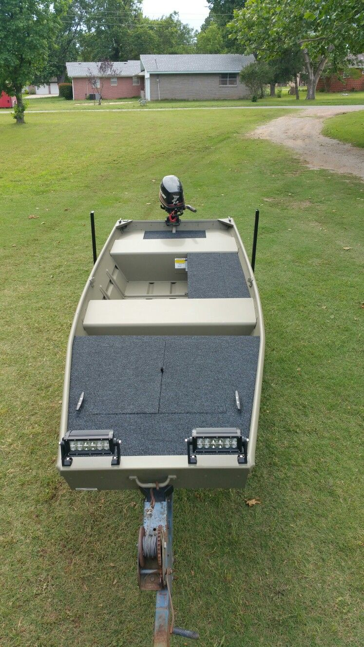 New 2016 tracker 14 jon boat fishing pinterest for Fish finder for jon boat