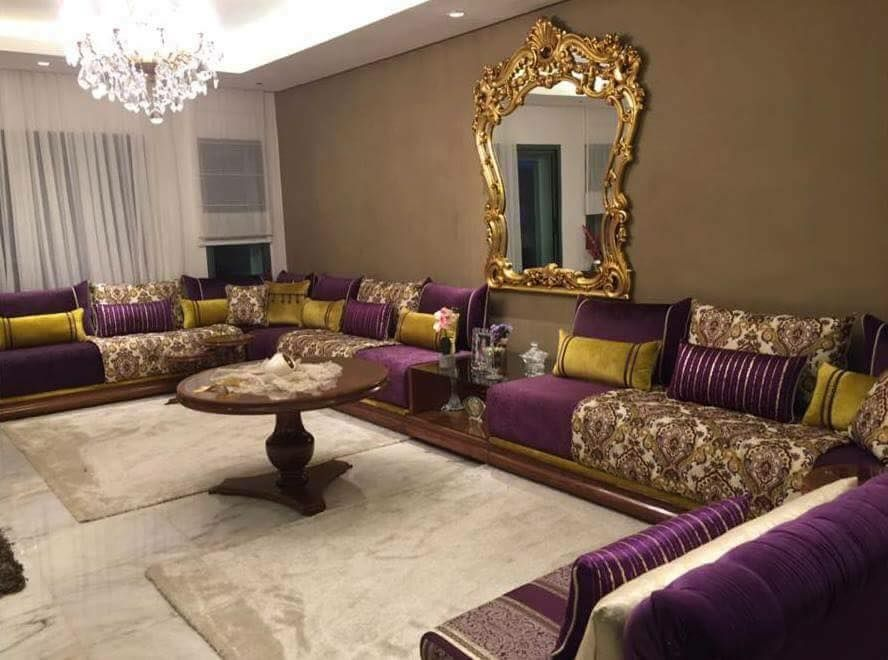 luxe salon marocain | Salon Sjour Marocain 2018  ...