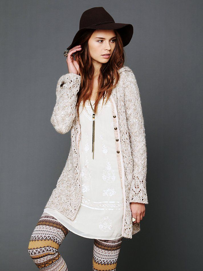Free People Hooded Solid Cardigan, $148.00