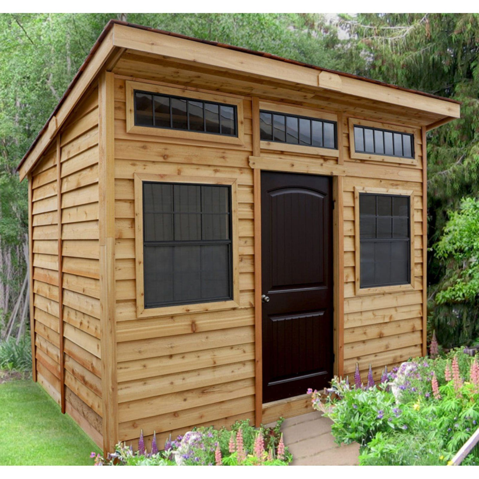 Outdoor Living Today Studio 12 X 8 Ft Garden Shed In 2020 Shed Design Building A Shed Diy Shed Plans