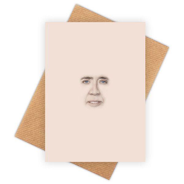 Nicolas Cage Funny Happy Birthday Card Meme Greeting Card Pop