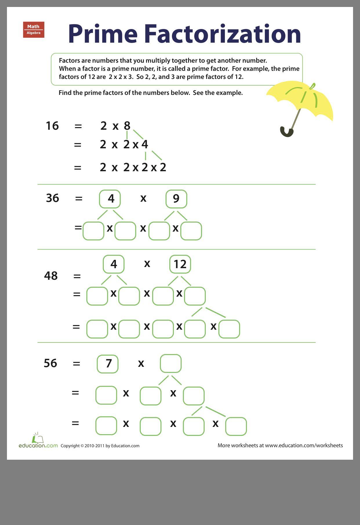 Multiples Worksheet