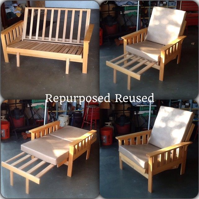 Old Futon Repurposed To A Usable Chair