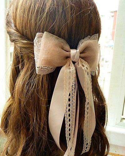 Top 50 Cute Girly Hairstyles With Bows Girly Hairstyles Bow Hairstyle Hair Styles