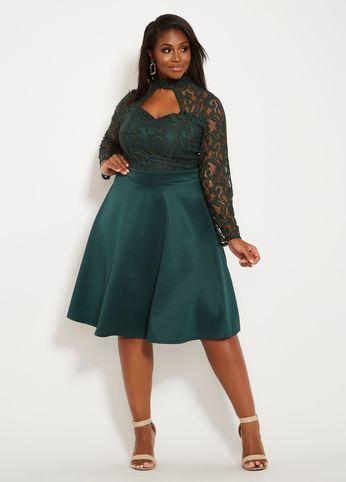 beb1a8c547d Lace Skater Dress, Pine Grove. Lace Skater Dress, Pine Grove. Más  información. The Season's Hottest Party Dresses for Women Size 10-36