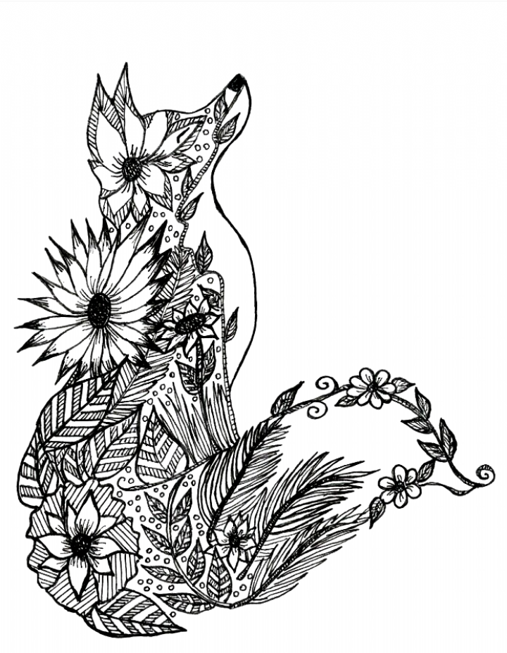Baby Fox Coloring Page Coloring Pages Animals Fox Coloring Fox Coloring Page Animal Coloring Pages Mandala Coloring Pages
