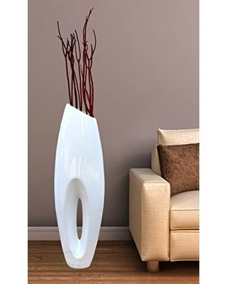 Uniquewise Uniquewise(TM) Modern White Large Floor Vase - 40 Inch from  Amazon