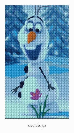 Cross stitch pattern - Olaf - Frozen - Instant Download! on Etsy, $3.50 @Katey Tyksinski Tyksinski Hawkins