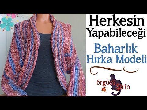 Tığ İşi Baharlık Zarf Hırka Modeli Yapımı Türkçe Videolu