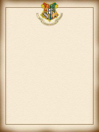 papier à lettre harry potter a imprimer