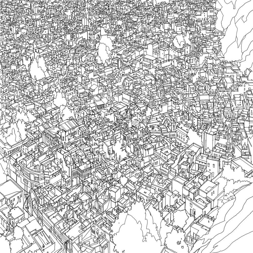 Fantastic Cities Is A Unique Coloring Book By Steve McDonald This Features Immersive Aerial