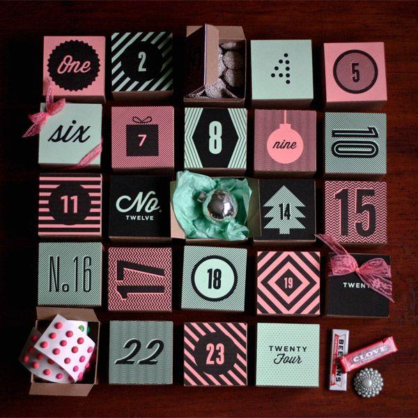 DIY: holiday box advent