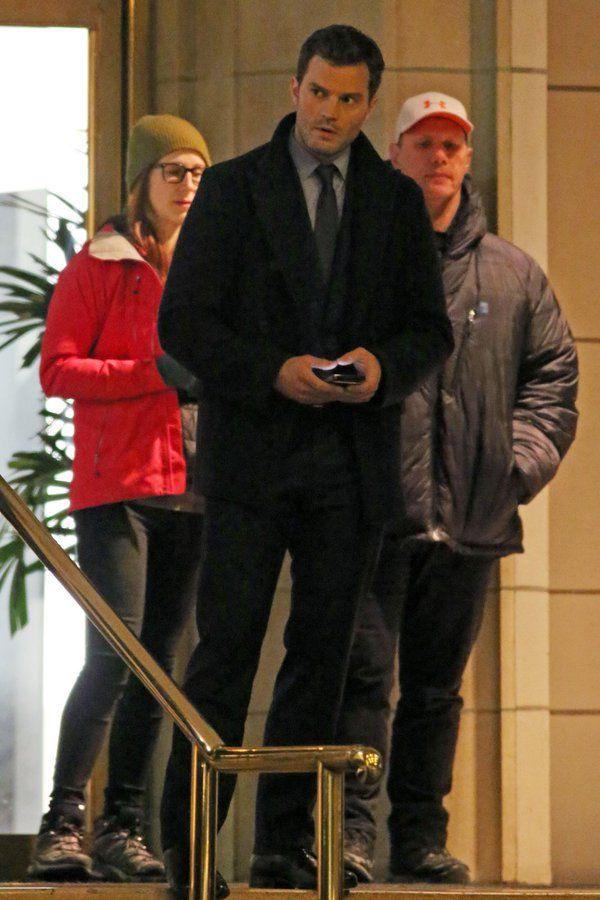 Jamie Dornan filming FSD - 16th March 2016