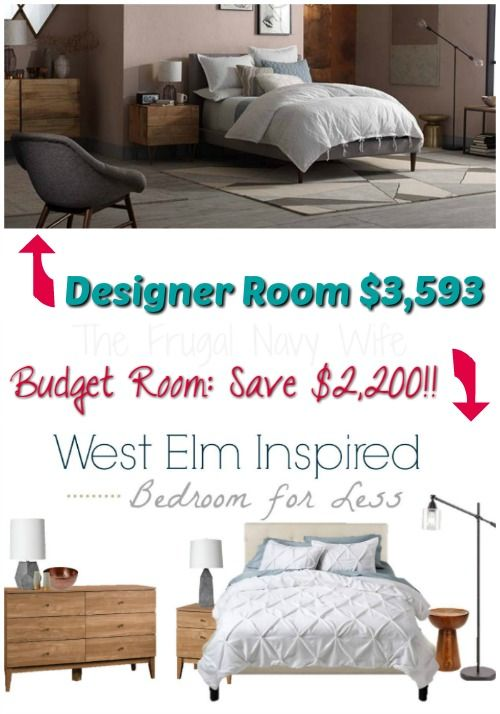 Designer West Elm Bedroom for Less! You can save over $2,200 in this copycat room!