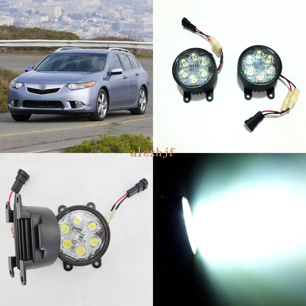 July King 18w 6leds H11 Led Fog Lamp Assembly Case For Acura Tsx
