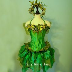 adult size small fairy costume woodland faerie meadow faerie meadow - Green Fairy Halloween Costume