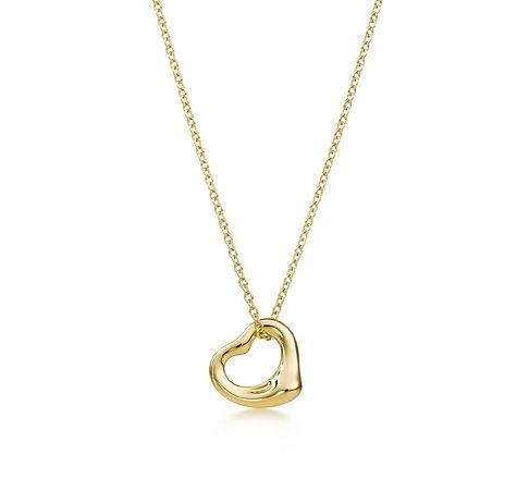 Tiffany & Co. | Pendentif à cœur ajouré Elsa Peretti(MD), or 18 K.