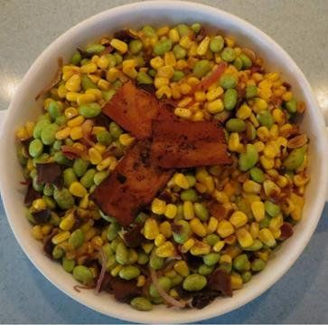 Devilish corn and edamame, a dish with a little bite from Dinner is Served. - See more at: http://vilaspiderhawk.com