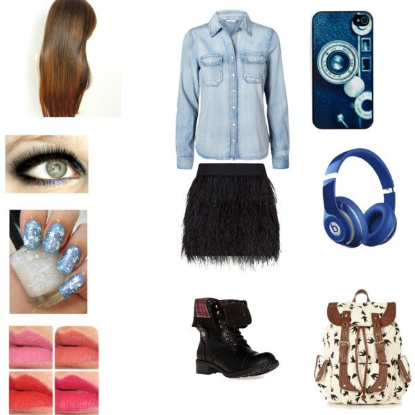 Made by: Nikki! <3 Quick, simple blue look (With a splash of black) :)