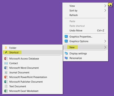 How To Create Desktop Shortcut In Windows 10 Microsoft Word Document Windows 10 Powerpoint Presentation