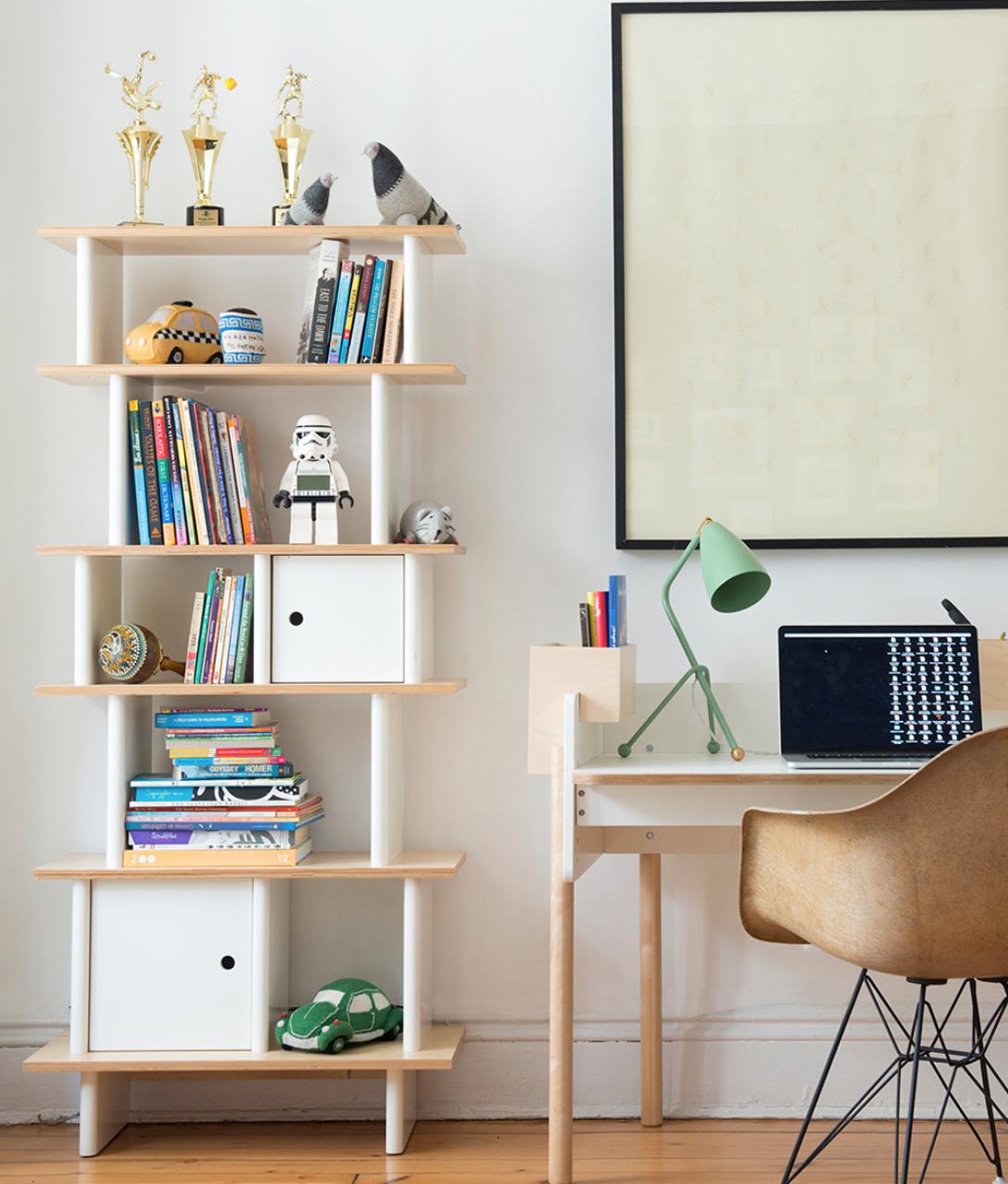 Oeuf Vertical Mini Library Birch In 2020 Home Office Design Furniture Kids Bedroom Furniture