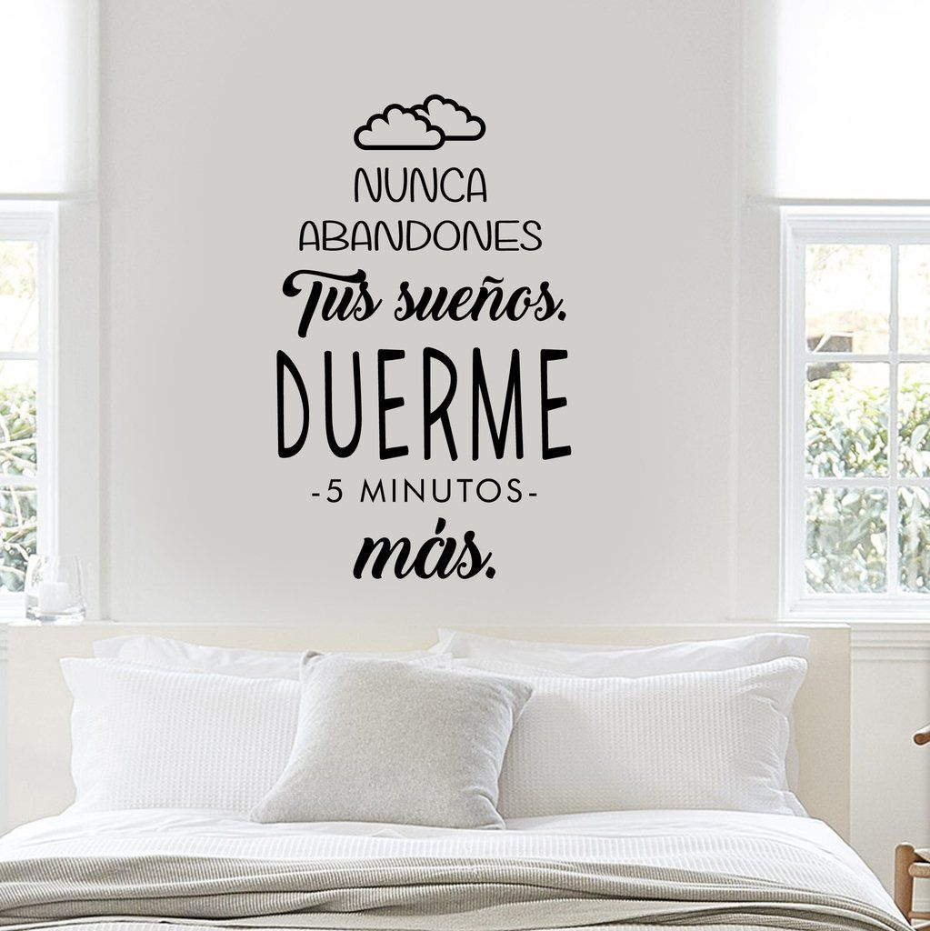 Fr44 nunca abandones tus sue os vinilo hogar vinilo for Vinilos pared dormitorio