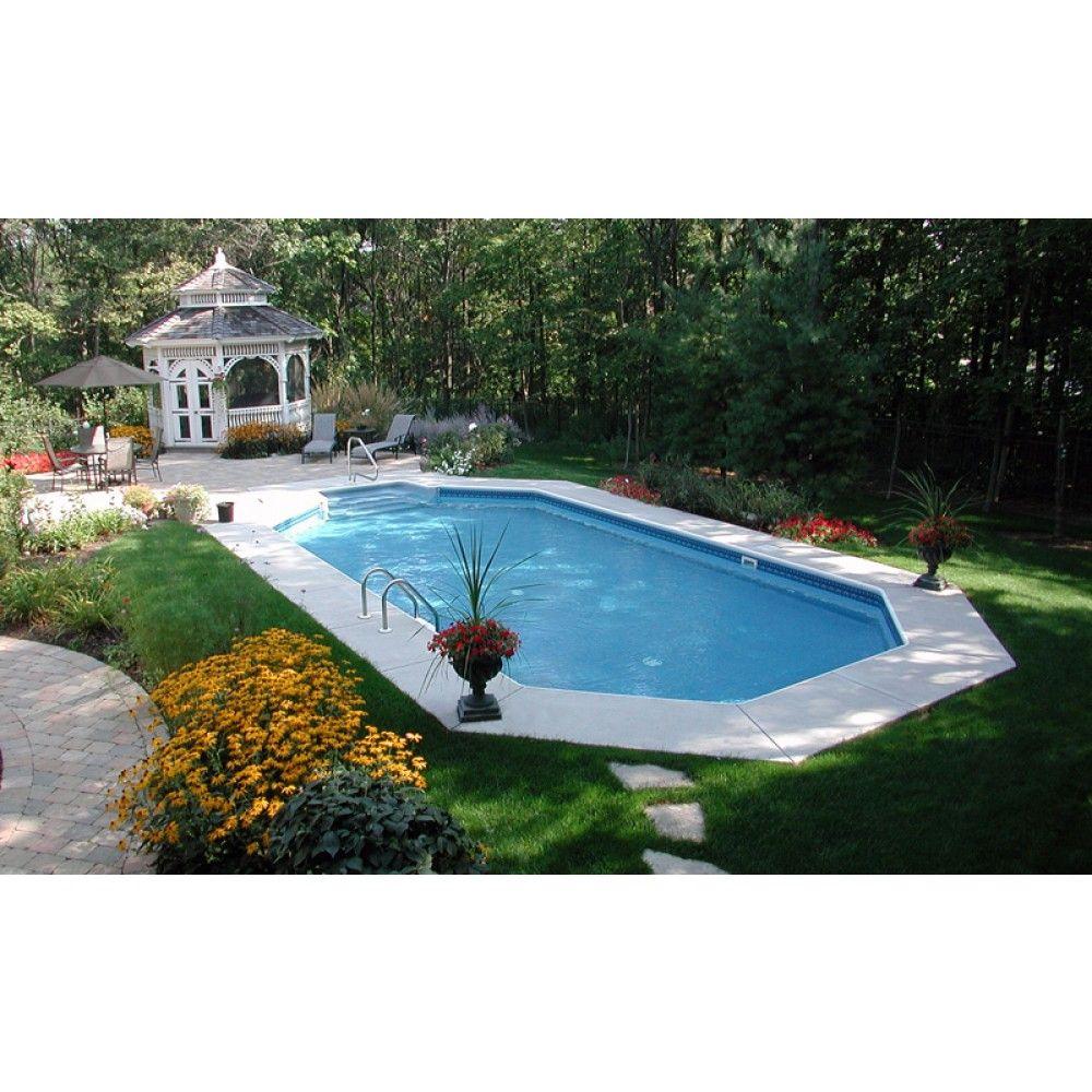 12x24 Inground Rectangle Pool - Google Pools In 2019 Swimming