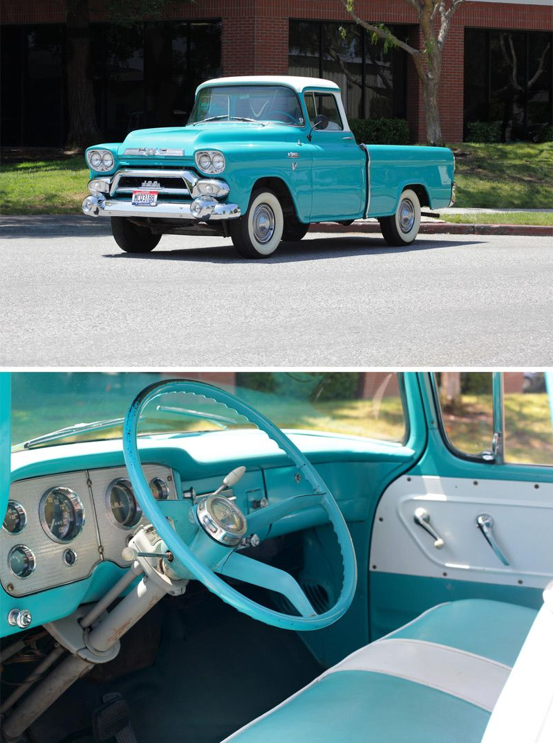 1958 Gmc Series 101 8 Pickup Once Owned By Steve Mcqueen Camionetas Clasicas Chevrolet Coches Clasicos Autos
