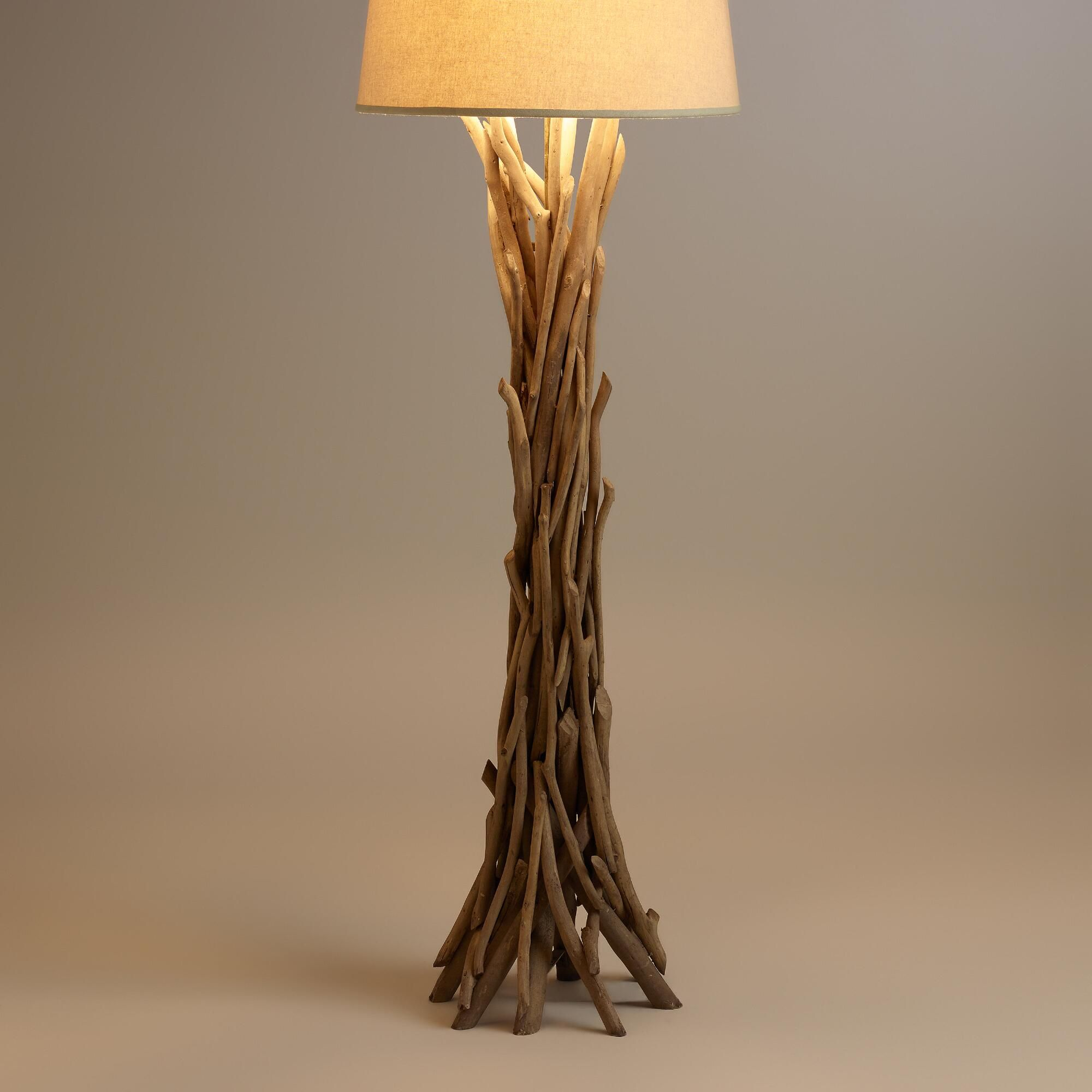 brushed designsadrift hand by custom base michael lamp floor steel driftwood made with