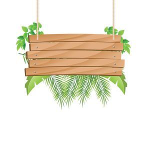 Wooden Hanging With Tropical Sign Clipart Wood Wood Decoration Png And Vector With Transparent Background For Free Download Tropis Tanda Kayu Pola Bunga
