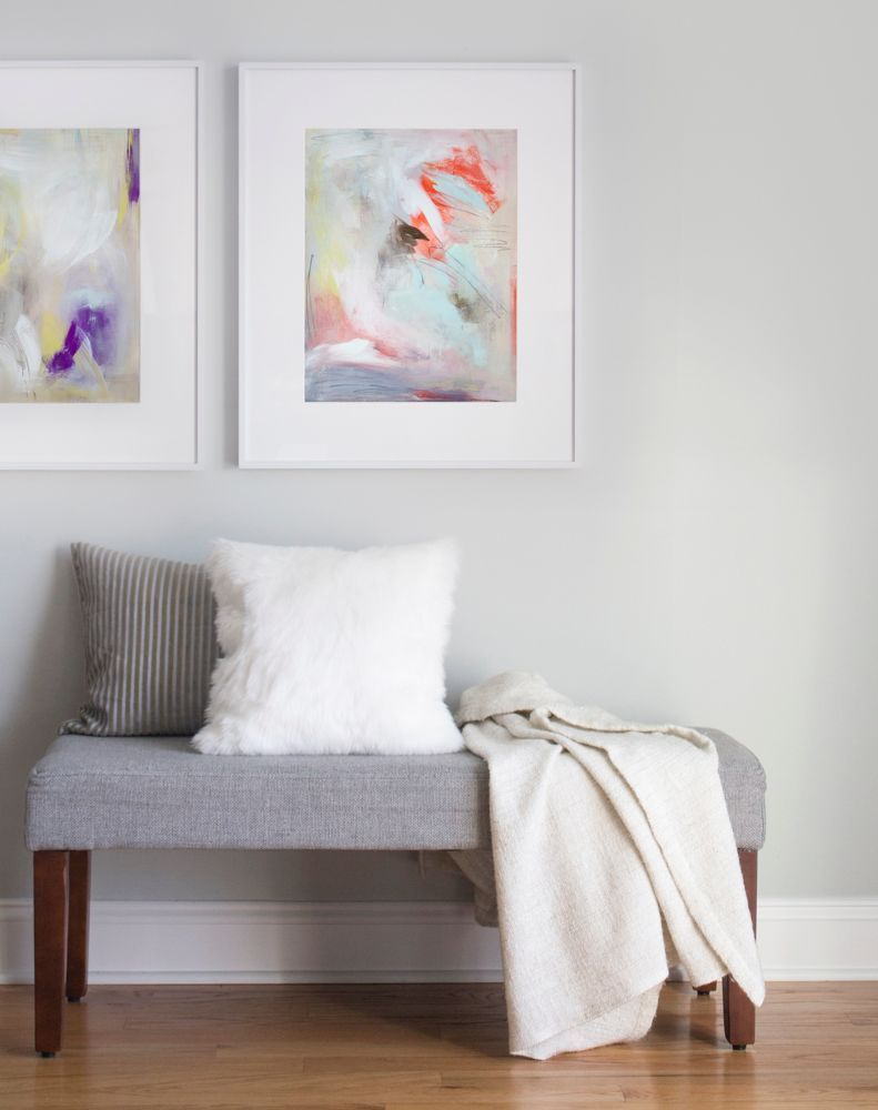 At home with minted artist julia contacessi bench artist and