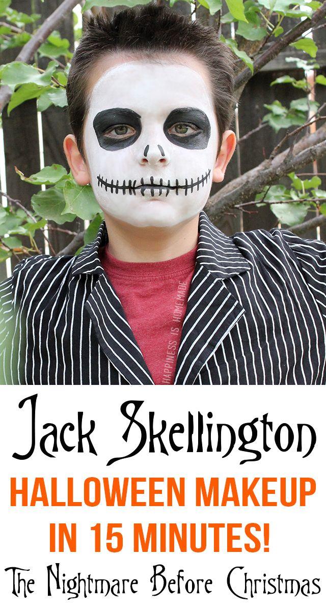 Jack Skellington Halloween Makeup in Only 15 Minutes!