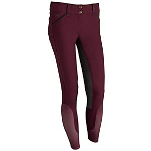 Piper Full Seat Breeches by SmartPak || Colors: Merlot with Dark Grey, Charcoal with Lt. Grey, Wheat with Teal || Size: 28R