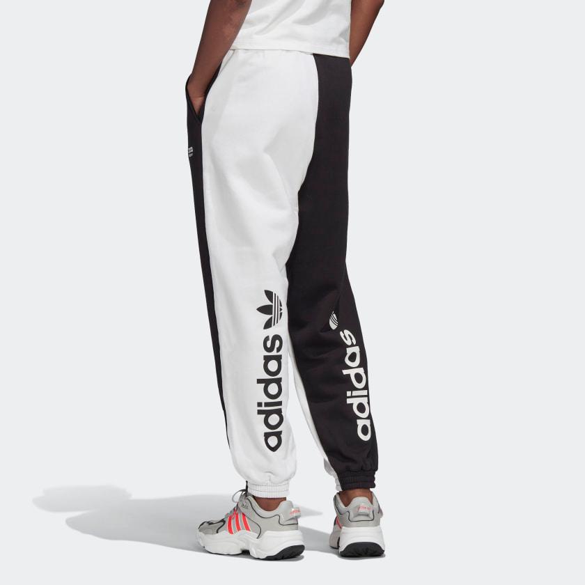chorro ventaja Microordenador  R.Y.V. Track Pants White / Black FS6508 in 2020 | Tracksuit women, White  adidas, Pants