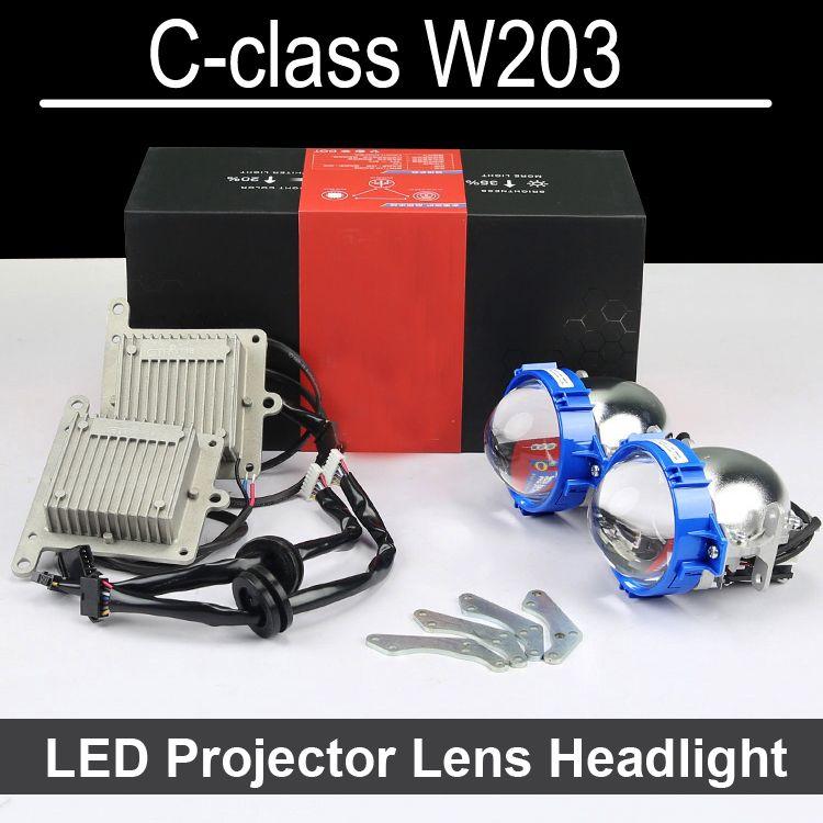 Hi Low LED Projector lens headlight For Mercedes Benz C