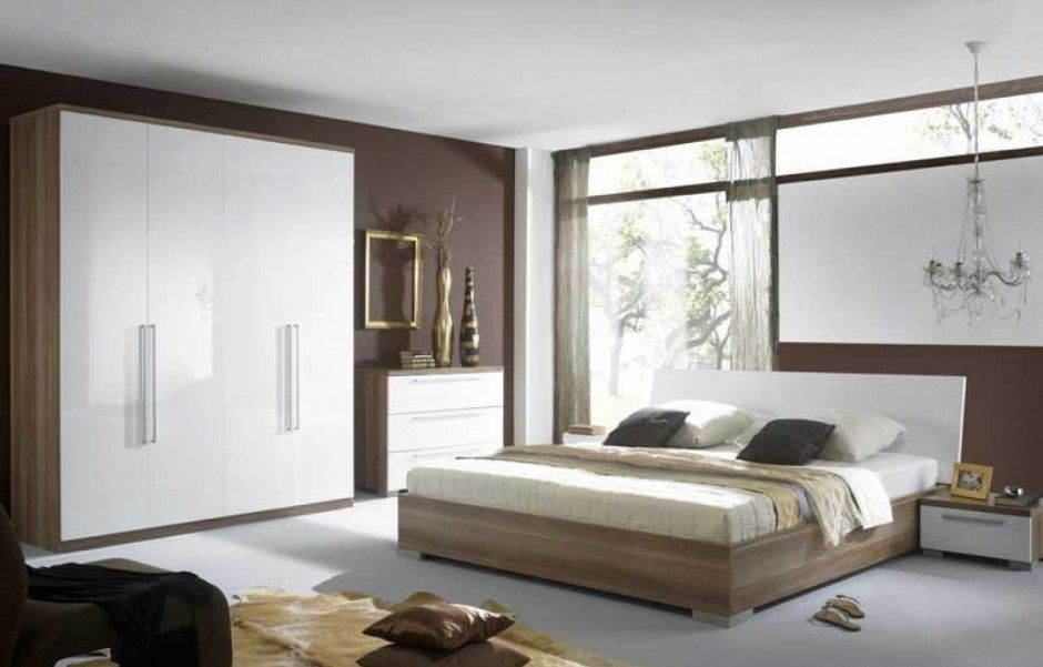 Extraordinary master bedroom design paired with wooden bed for Master bedroom wardrobe designs india