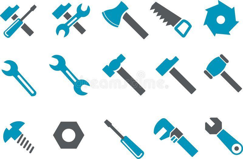 Tools Icon Set Vector Icons Pack Blue Series Tool Collection Affiliate Vector Icons Set Woodworking Projects Plans Woodworking Teds Woodworking