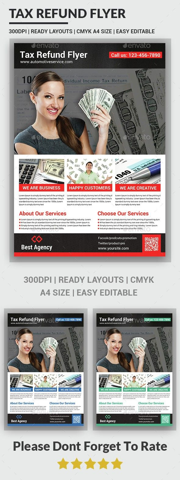 Tax Refund Flyer Template Pinterest Tax Preparation Template