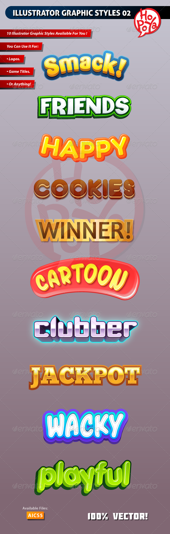 Illustrator Graphic Styles 02