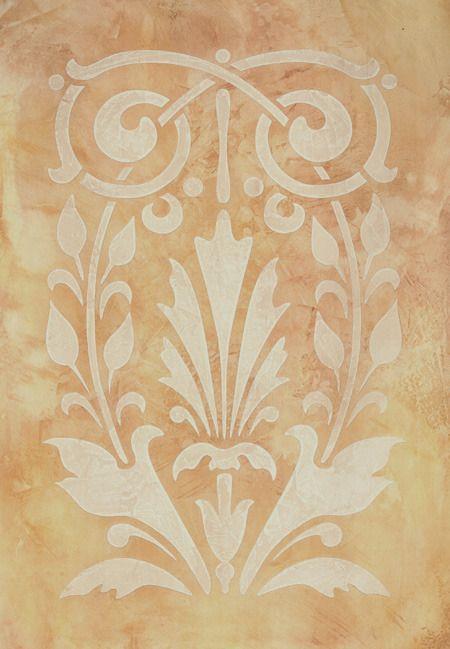 Fleur Classic Panel Stencil | Stenciling, Stencil patterns and Patterns