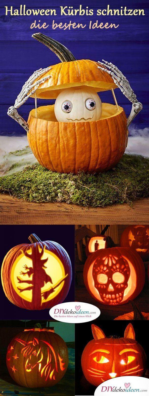 Kürbis schnitzen zu Halloween - Das sind die besten Ideen zum Gruselfest #hoppyeaster