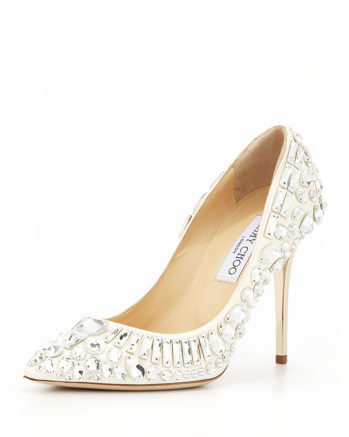 c537c8321e8a2 Trina Pointy-Toe Jewel Pump White in 2019 | Shoes, Gems and Fashion ...