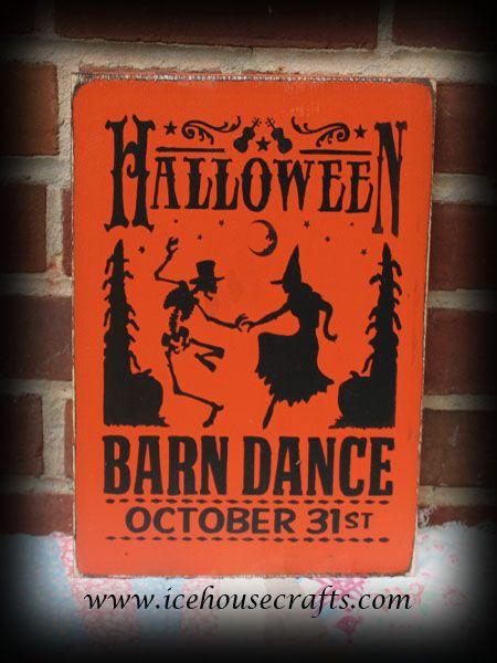 barn wood funny signs witch skeleton barn dance sign for halloween ebay - Halloween Barn