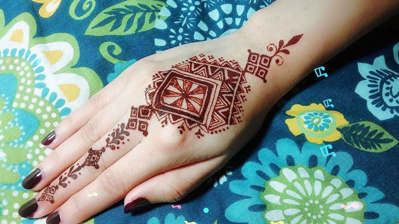 Diy easy mehendi design for fingers tutorial 12 henna