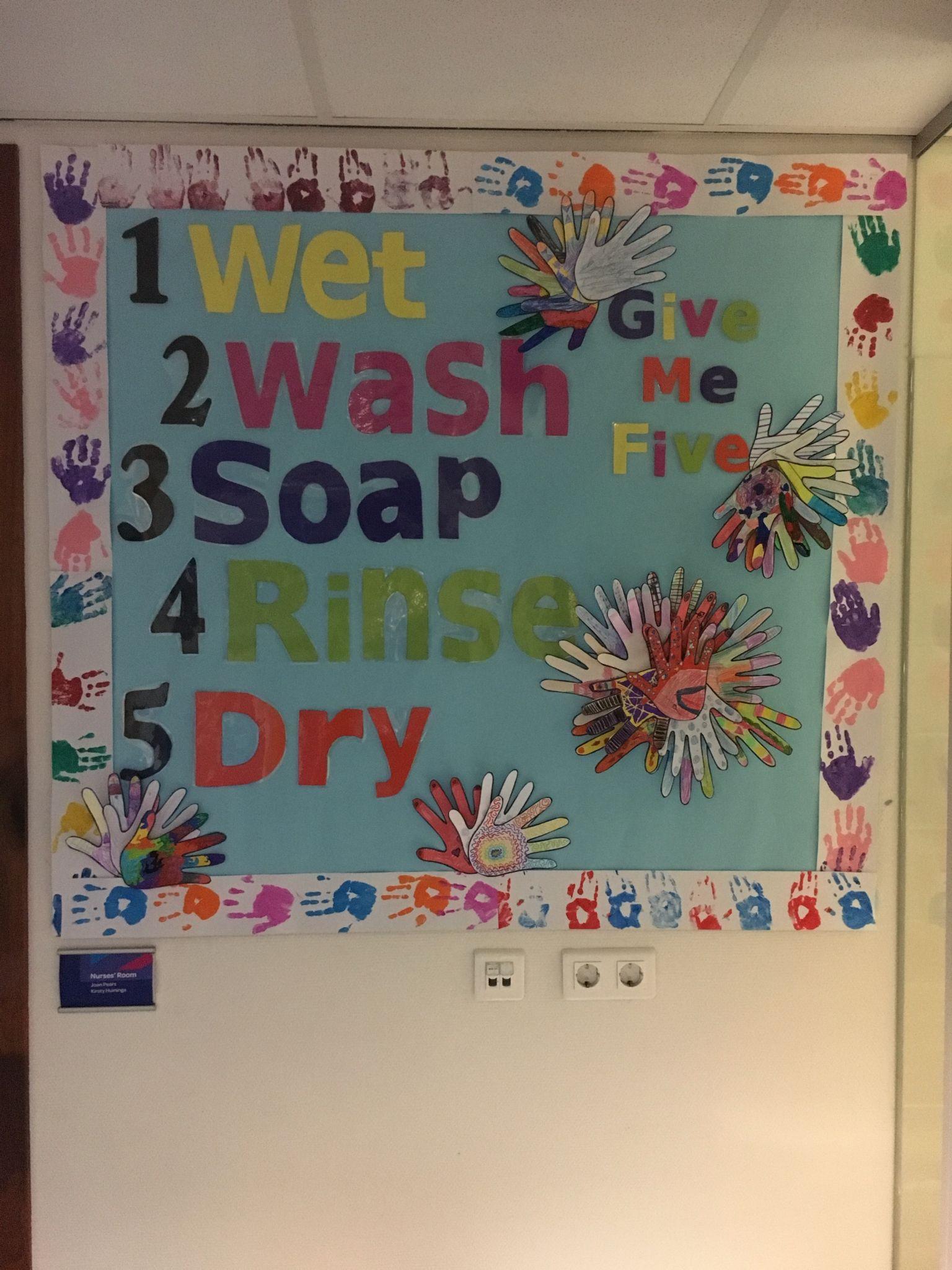 Hand Washing Bulletin Board