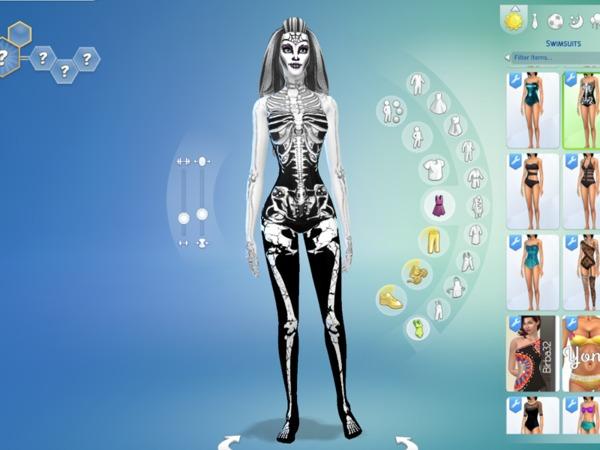 Onicachan S Skeleton Skin Skeleton Skin Sims 4 Controls Sims 4