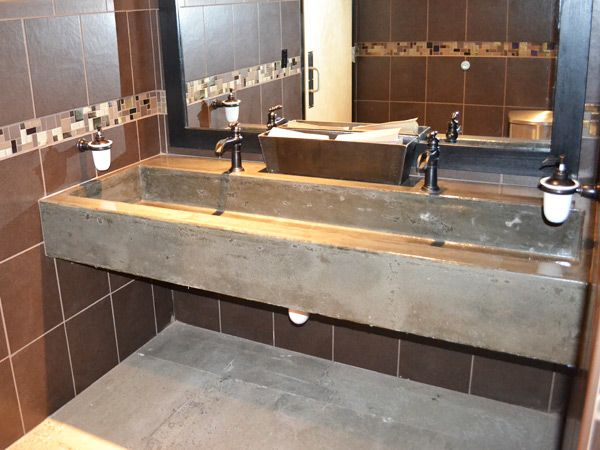 Trough sink for bathroom google search decor vanity for Commercial bar flooring